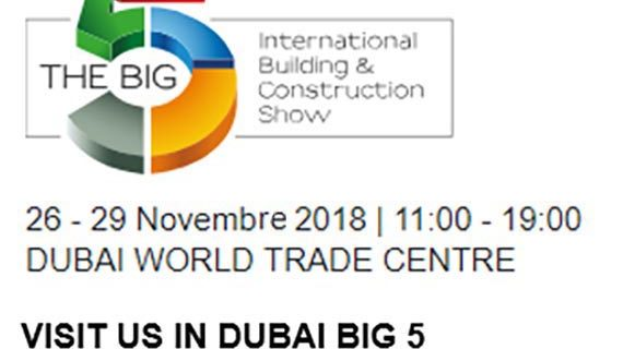 Pozzi Colours alla fiera evento The Big 5 Dubai dal 26 al 29 Novembre 2018